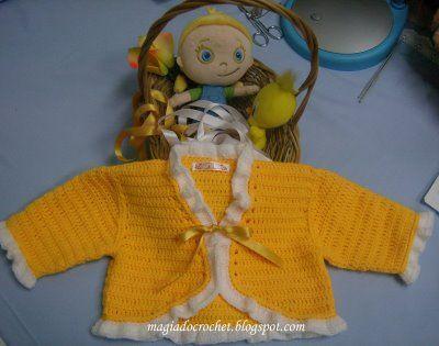 Crochet Baby Jacket Tutorial : Baby Jacket free crochet tutorial crocheted baby ...