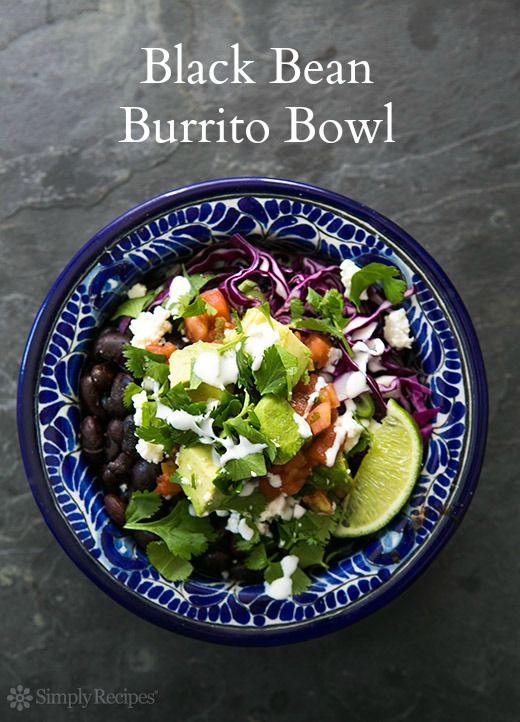 Black bean burrito, Bean burritos and Burrito bowls on Pinterest