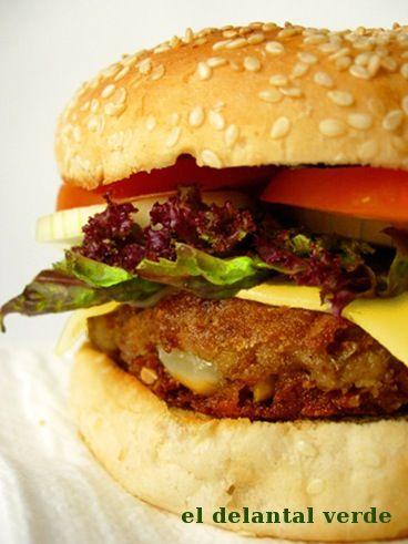 hamburguesa lentejas y cacahuete