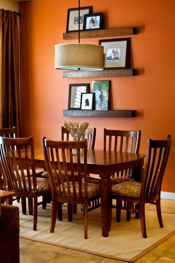 15 Popular Wall Paint Colours For Your Indian Home Pick These Blindly In 2020 Dining Room Colors Living Room Orange Orange Dining Room
