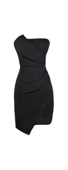 Lily Boutique Origami Infatuation Black Cocktail Dress, Little Black Dress…