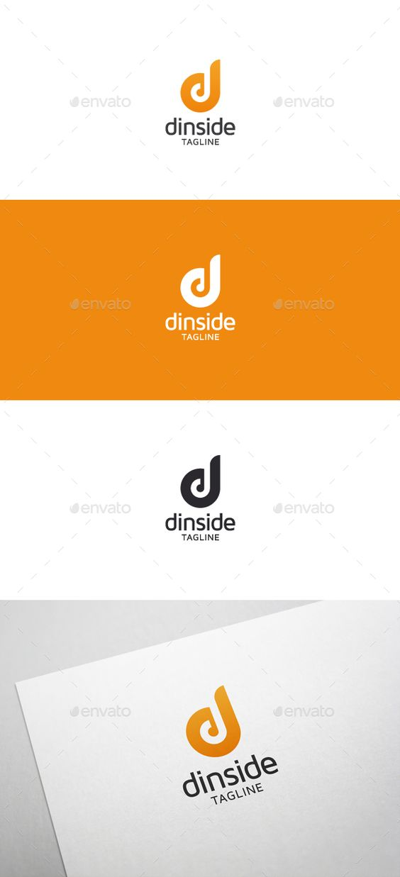 Dinside d letter logo letter logo for D for design