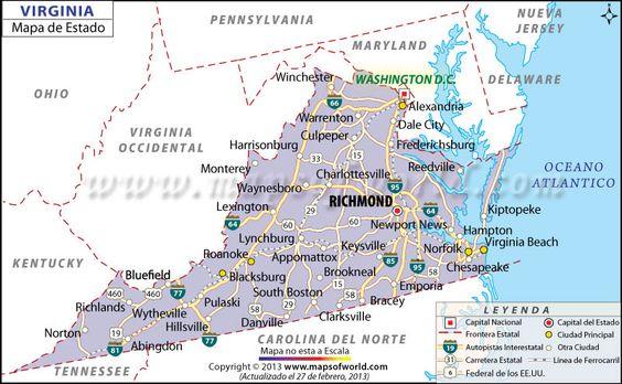 Mapa de Virginia