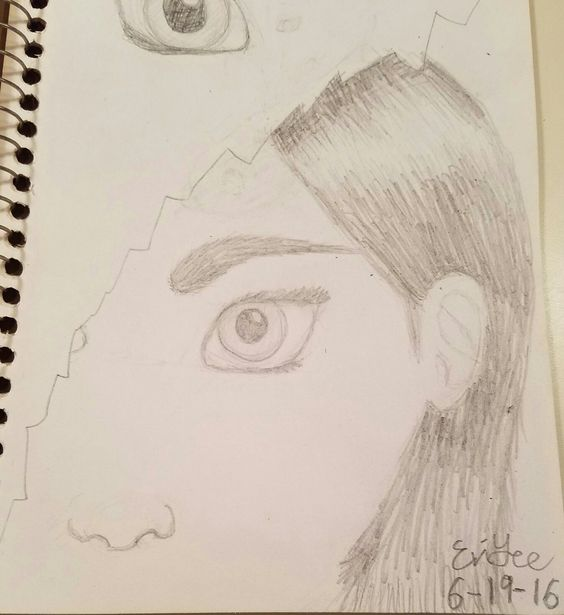 So ignore the doodle in the top left. I tried to do a more Disney-inspired style with this one (especially the nose and eye). For an experiment, I think it turned out really well... except for the ear(like it's waaay too small), I didn't put too much effort into the ear. Also just didn't want to draw the other eye.