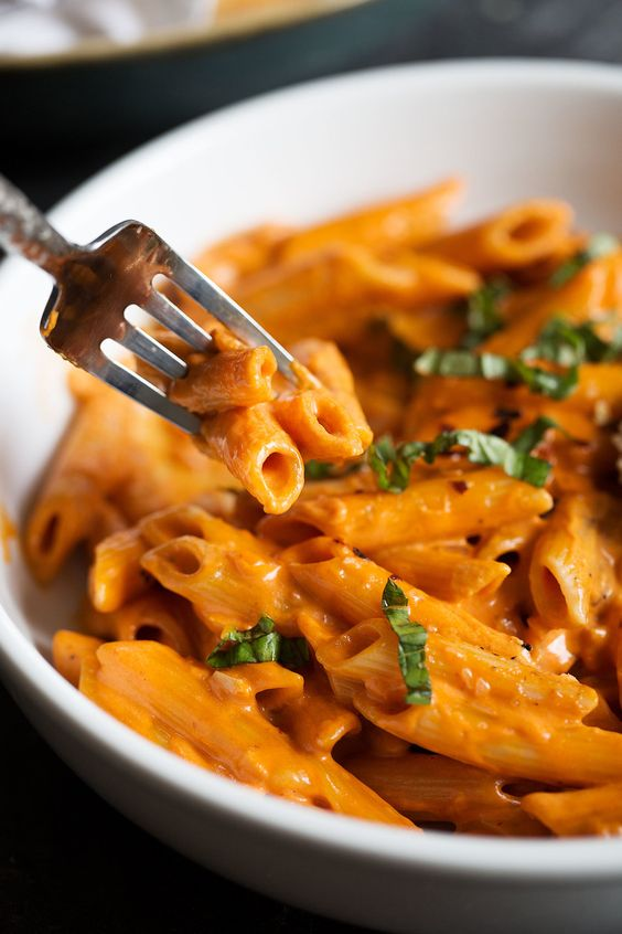Penne alla Vodka with Grilled Chicken — Cooking with Cocktail Rings
