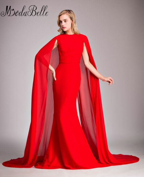 Evening Gowns With Capes 74