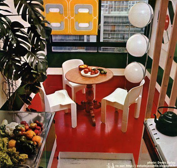 Sarcelles - Appartement Jean-Pierre et Maryvonne Garrault  Décoration: Garrault-Delord: Henri Delord, Jean-Pierre Garrault  Création: 1972   La…: