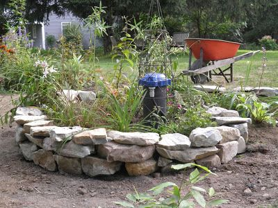 How to hide a drilled well pipe. Will give years of ...