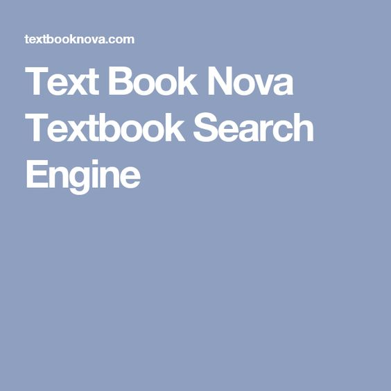 Text Book Nova Textbook Search Engine
