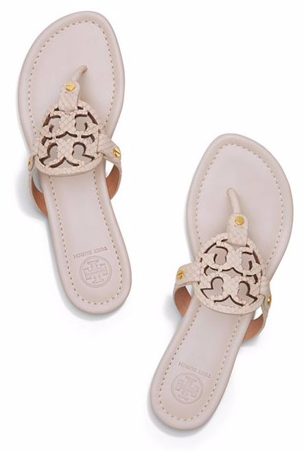 My favorite color this season - Tory Burch Miller sandals in dulce de leche