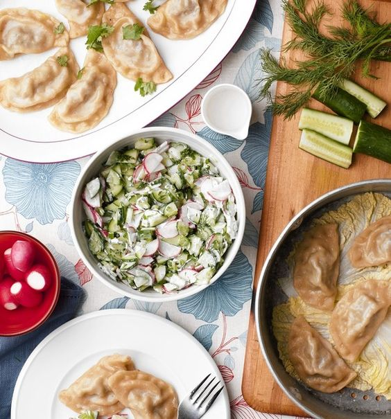 my first story for the WSJ - uzbek dumplings, manti.