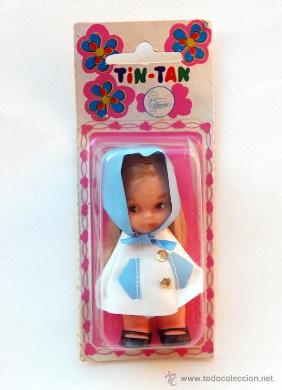 Antigua muñeca Tin-Tan de Famosa, en su blister original. Finales de los 60