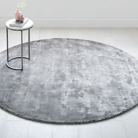 Lucent Round Rug Pewter Rugs Contemporary Modern Furniture Round Rugs
