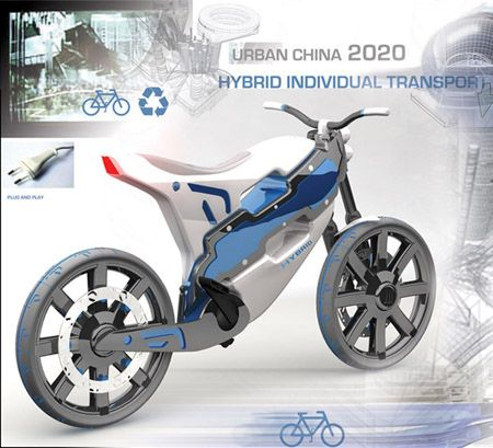 Futuristic Motorbikes: Hybrid Individual Transport for China in 2020