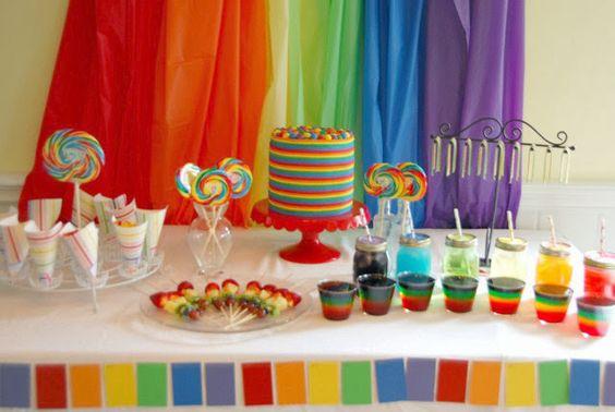 Festa de aniversário: Arco Iris