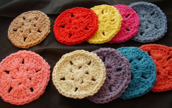 10 Star Facial Scrubbies  Assorted Colors as by aStateOfGrace, $7.50