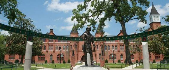 Northeastern State University Seminary Hall & statue of Sequoyah