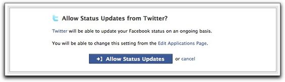 Not really code, but LOVE to be able to update facebook status from twitter. Must investigate more...
