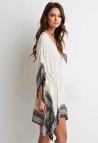 Tribal Print Poncho Dress   Forever 21 - 2000116260