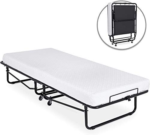 New Best Choice Products Twin Folding Rollaway Cot Sized Mattress Guest Bed W 3in Memory Foam Locking Wheels Steel Frame Black Online In 2020 Guest Bed Folding Guest Bed Comfy Bed