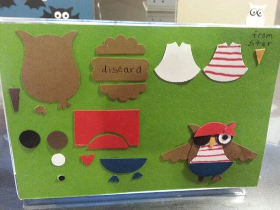 """TUTORIAL: Stampin' Up! """"Build A Owl"""" Punch: Halloween Pirate"""