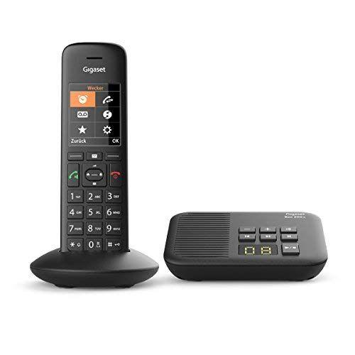 Gigaset C570a Telefon Schnurlostelefon Mobilteil Mit Farbdisplay Design Telefon Grosse Tasten Anrufbeantworter Freisp Schnurlostelefon Gigaset Telefon