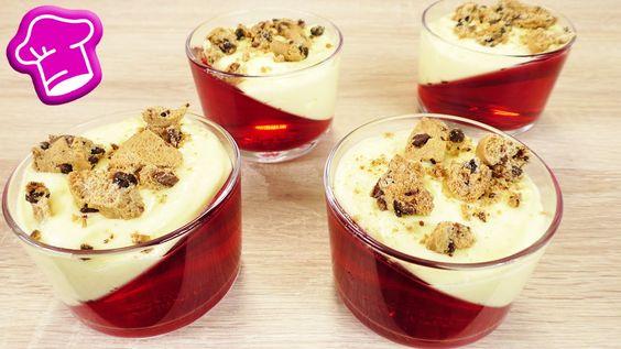 Tolles  Wackelpudding Dessert im Glas | Schiefe Götterspeise mit Vanille...