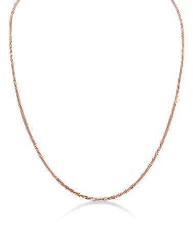 Look what I found on #zulily! Rose Gold Sparkle Twist Chain Necklace #zulilyfinds