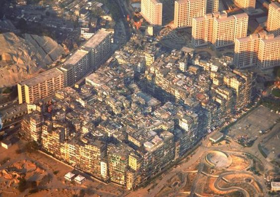 kowloon-walled-city-whole.jpg The walled city was my inspiration for the decrepit city that grew up on the site of Fisherman's Wharf in the Black Planet books. The settlement was torn down just a few years before I visited HK. There is now a park at that site.