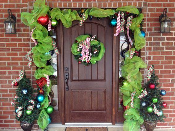 Christmas decor for around the door