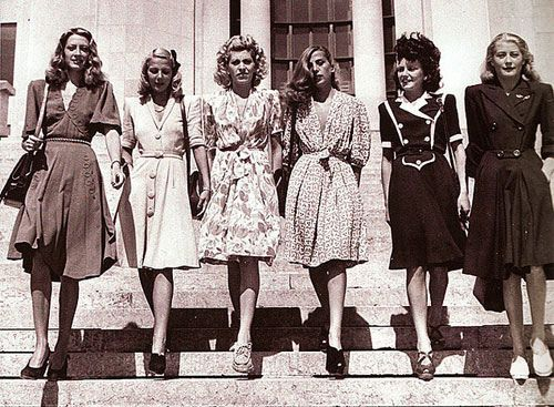 (from left to right) Esther, Betsy, Hilda, Doreen, Jay Cee, and another contest…