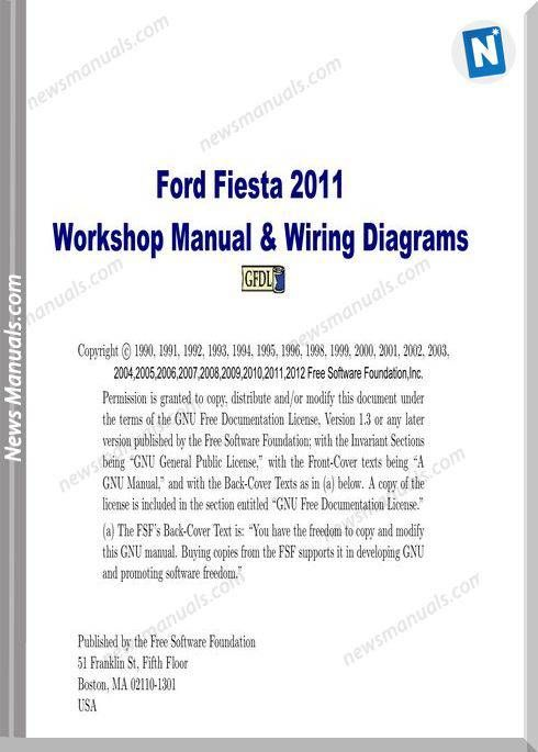 Ford Fiesta Workshop Manual Wiring Diagram 2011 in 2020 | Ford fiesta, Ford,  FiestaPinterest