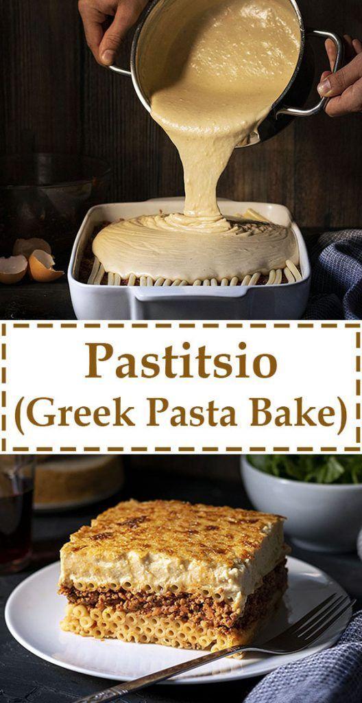 Pastitsio Recipe Greek Pasta Bake Recipe Greek Pasta Greek Recipes Pastitsio
