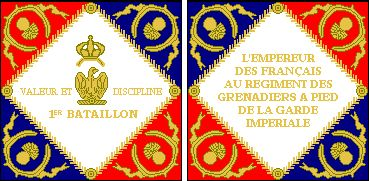 1st Battalion, Regiment des Grenadiers à Pied of the Imperial Guard, Model of 1806-11 • The Grenadiers of the Imperial Guard were initially embodied in a single regiment of two battalions, each of which received an Eagle and color.