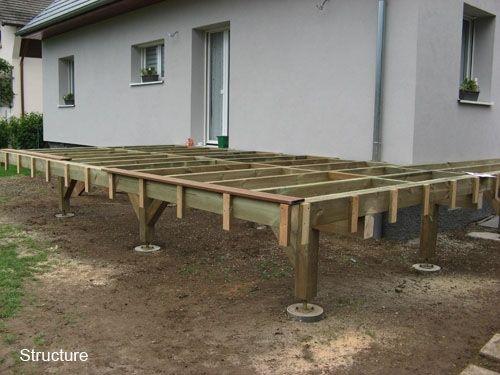 Construire Terrasse Sur Pilotis 5 Terrasse En Bois Surelevee Chic Construire Une Terrasse Bois Terrasse Bois Terrasse Faite Maison Terrasse