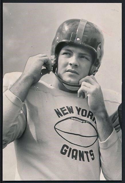 NFL Jerseys NFL - Frank Gifford, New York Giants (1953). | New York Football Giants ...