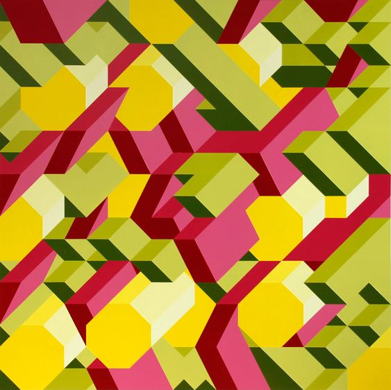 Adam Daily, graphic painting, M4, 2013, 48X48