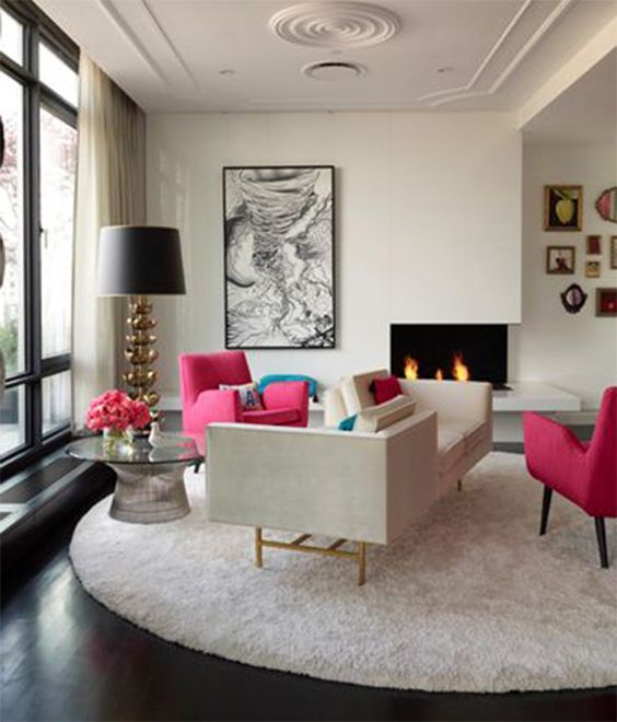 Feelings living rooms and round rugs on pinterest for Living area interior design