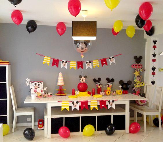 """Le blog de Laura: Un troisième anniversaire """"Mickey"""" 100% fait maiso..."""