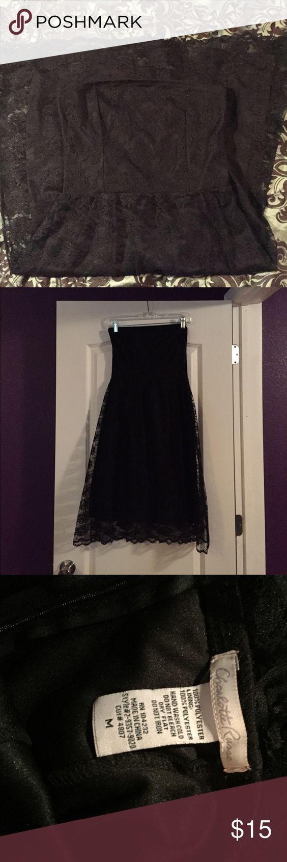Charlotte Russe Dress • Medium Charlotte Russe Dress • Medium • Black Lace Strapless Dress • Charlotte Russe Dresses