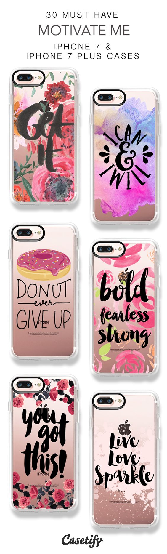30 Must Have Motivate Me iPhone 7 Cases and iPhone 7 Plus Cases. More Quotes iPhone case here > https://www.casetify.com/collections/top_100_designs#/?vc=YnrFZGO9vo: