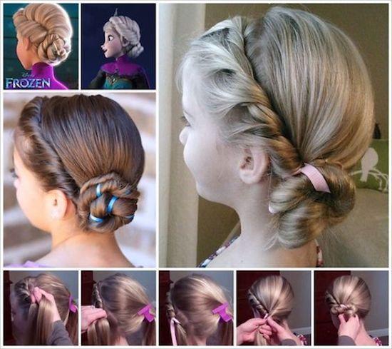 ママが簡単にできる 女の子のヘアスタイル ディズニー 発表会