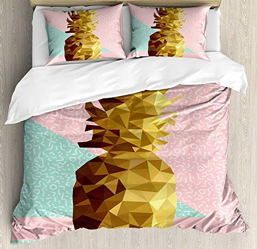 Chasoea Indie Bedding Setsretro Summer Concept Pineapple Fruit In