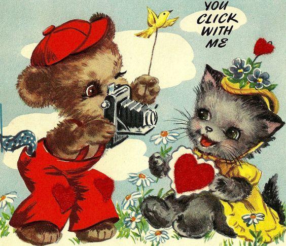 Vintage Valentine Card  eBay  valentine kitsch  Pinterest