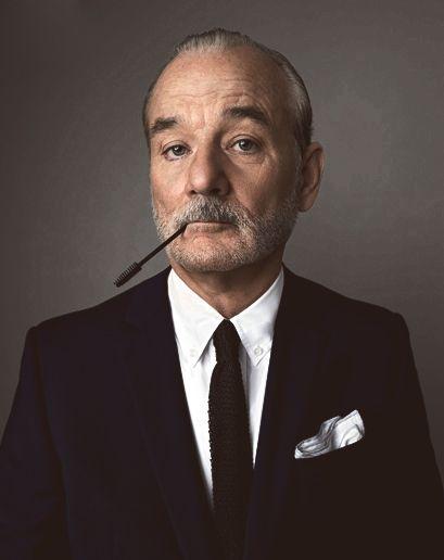 Je veux bien laisser mes mascaras Astor à Bill Murray pendant mes vacances de nöel!!! Peggy Sirota .: