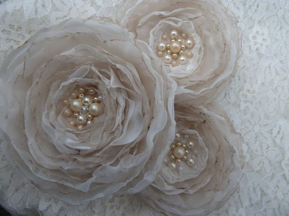 Wedding Bridal Ivory Cream Champagne Fabric by BananaSueBoutique, $40.00