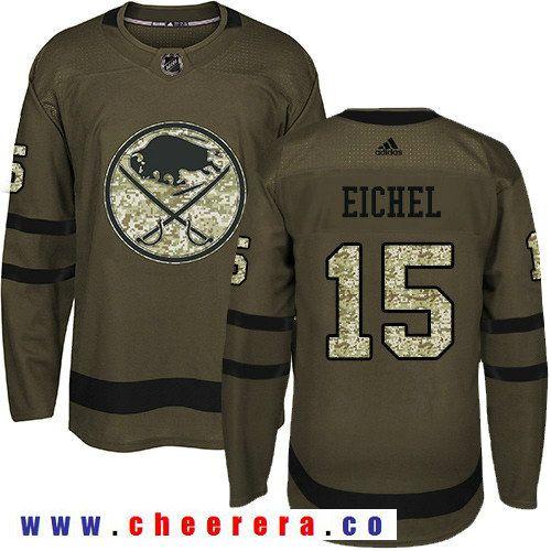 adidas sabres 15 jack eichel green salute to service stitched nhl jersey hockey jerseys pinterest nh