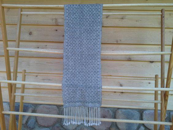Handspun, Handwoven, 100% Alpaca Scarf by spinnweave on Etsy
