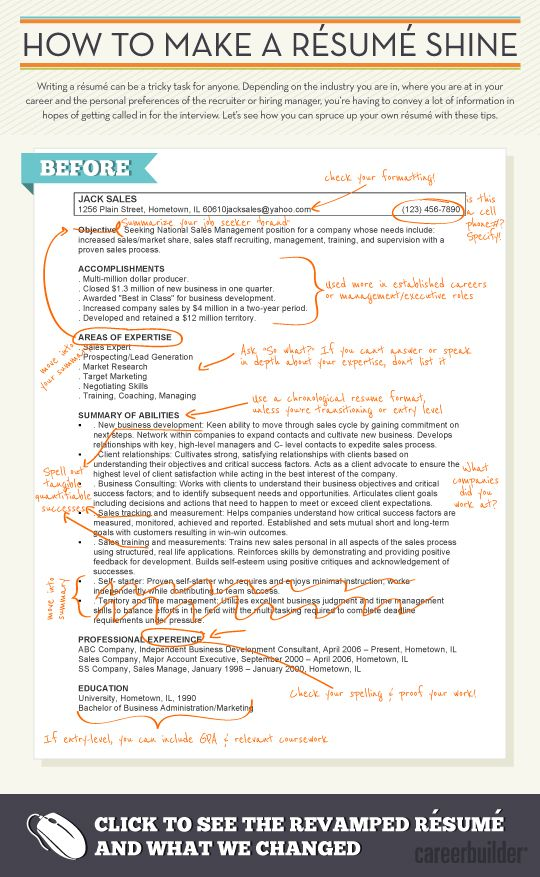 How To Make A Resume Shine #Infographic Via @CareerBuilder | Tips And  Tricks | Pinterest | Infographic