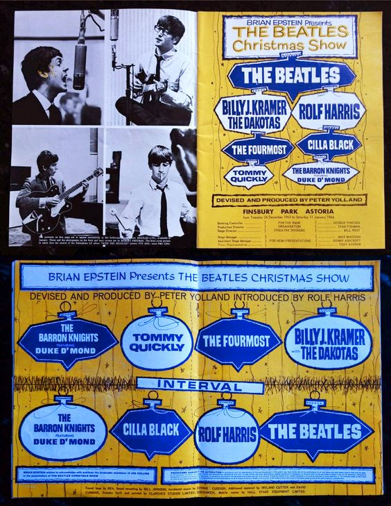 The Beatles 1963 Christmas Show (Finsbury Park, Astoria, London) with Billy J. Kramer & The Dakotas, Rolf Hairris, Cilla Black & others